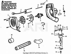 Poulan Pb95 Electric Blower Parts Diagram For Blower Assembly
