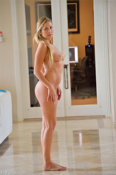 Hot Blonde Girl Courtney Does Yoga In The Nude Coed Cherry