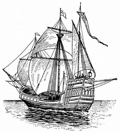 Ship Maria Santa Ships Columbus Coloring Pages