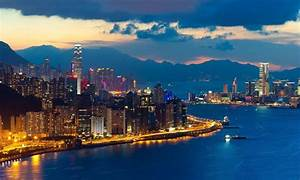 City Hong Kong At Night Wallpaper 657837 : Wallpapers13.com