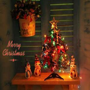 40cm Luxury Mini Christmas Tree With Lights Desktop