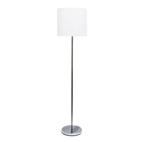 floor l white shade simple designs 58 25 in white brushed nickel drum shade