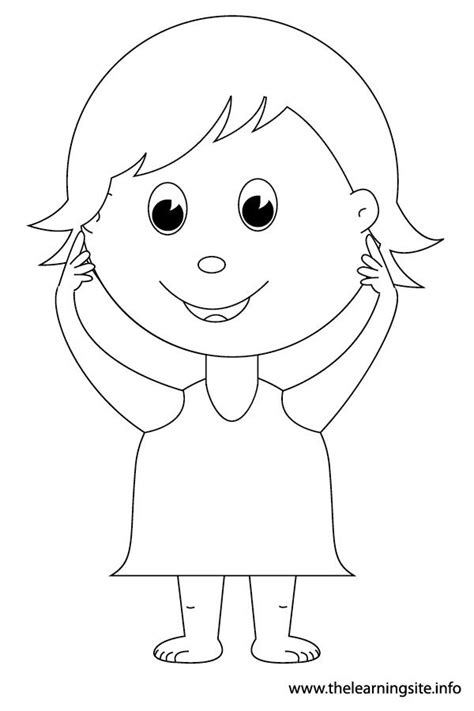 body parts coloring pages  kids coloring home