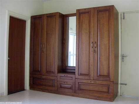 Brown Wood Wardrobe by 15 Ideas Of Wood Wardrobes With Mirror