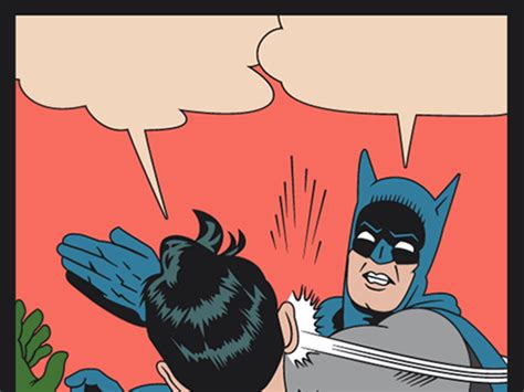 Memes De Batman Y Robin En Espaã Ol - el meme de batman cacheteando a robin cumple 50 a 241 os taringa