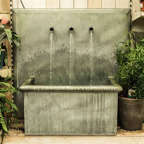 Trento Zinc Water Feature ? Square