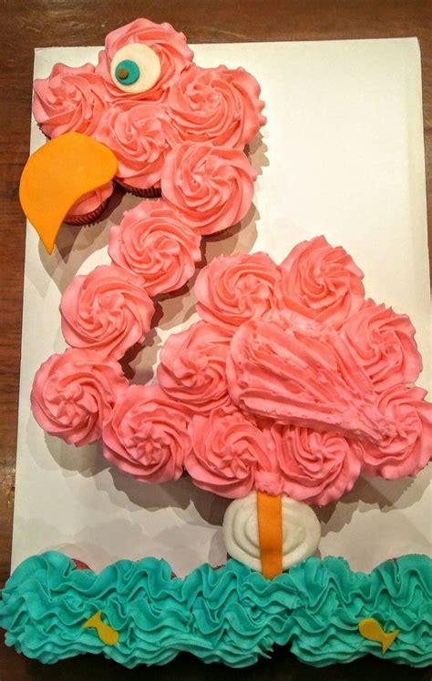 flamingo pull  cake flamingo cupcake cake beach