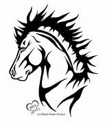 Tribal Horse Tattoo by...