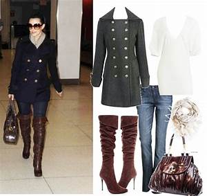 Pea Coat thigh high boots u0026 JEANS | My Style | Pinterest | Coats High boots and Purses