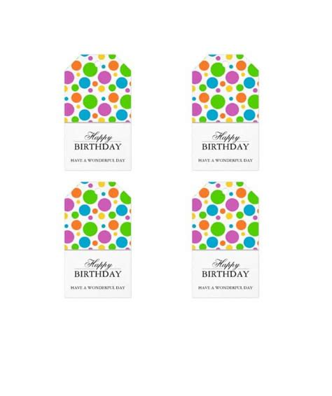Gift Tag Template 44 Free Printable Gift Tag Templates Template Lab