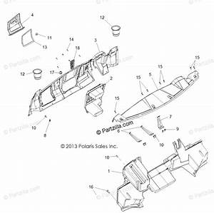 Polaris Side By Side 2016 Oem Parts Diagram For Body  Dash