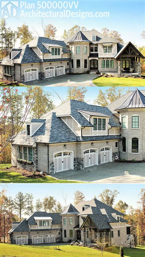 architectural designs  bed luxury house plan vv   brick exterior  stone