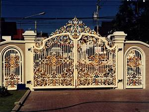 iron gates design gallery kerala home dezign With iron gate designs for homes