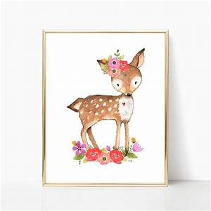 100 deer deer print woodland animals woodland forest With kitchen cabinets lowes with woodland animal wall art