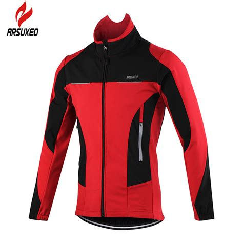 waterproof winter cycling jacket aliexpress com buy arsuxeo 2016 thermal cycling jacket
