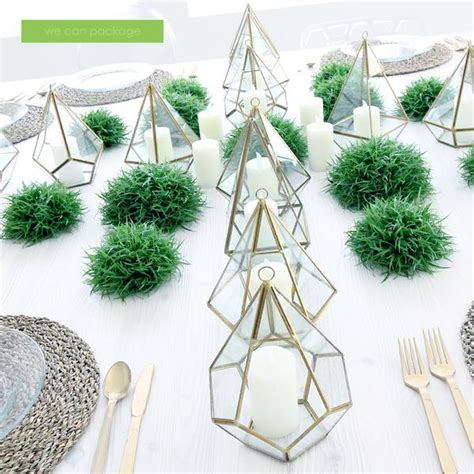 greenery geometric terrariums   package