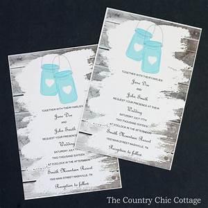 wedding invitations with mason jars the country chic cottage With wedding invitations you can edit