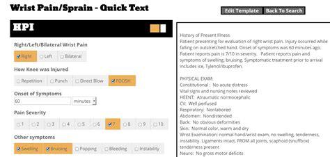 hpi template exles note doctors