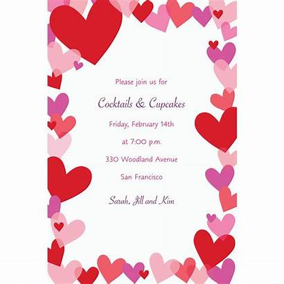 Invitations Hearts Custom Valentine Valentines Icon Party