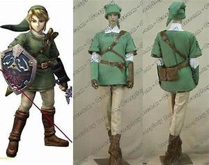 Details about The Legend Of Zelda Link Costume Cosplay ...
