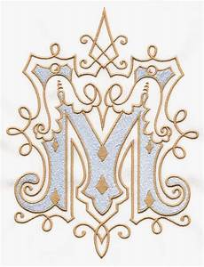 519 best catholic embroidery designs images on pinterest With vintage monogram letters