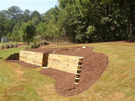 timber retaining wall grass masters and designs timber retaining walls steps