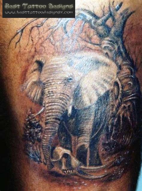 elephant tattoo images designs