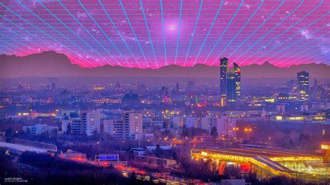 80s Neon City Wallpaper by 77 80s Wallpaper On Wallpapersafari