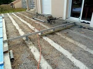 Terrasse Bois Sur Plot Beton : construction terrasse bois sur plot beton veranda ~ Melissatoandfro.com Idées de Décoration