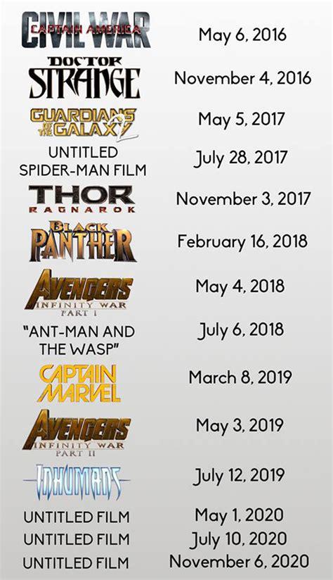 marvel film schedule joe