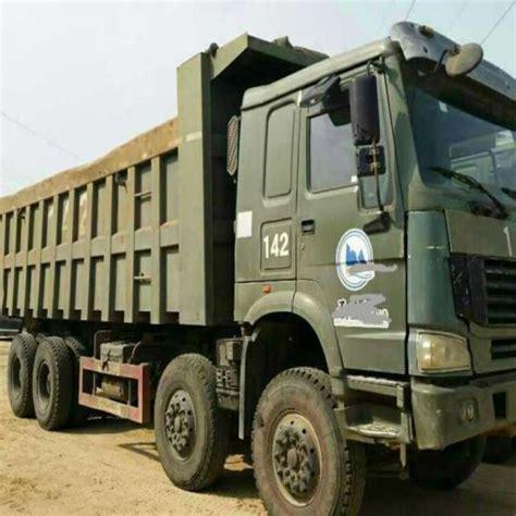 china construction equipment machinery original green howo sino heavy  dump truck  sale