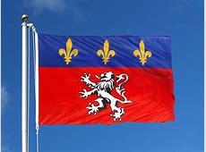 France Lyon Snap Hook Flag 100 x 150 cm