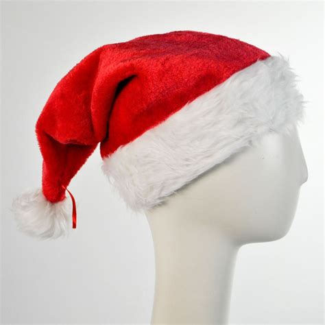 b2b deluxe plush santa hat novelty