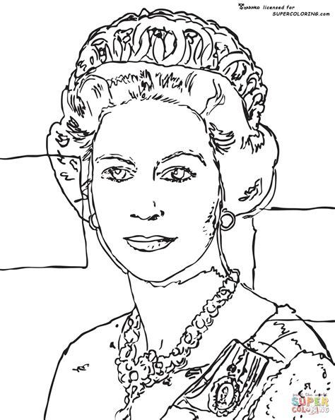 queen elizabeth  andy warhol coloring page