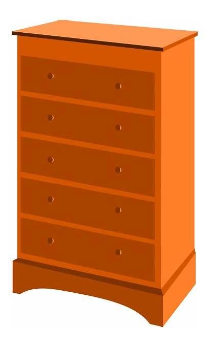 Dresser Drawer Drawers Chest Clipart Cupboard Furniture