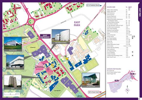 campus map   loughborough university issuu