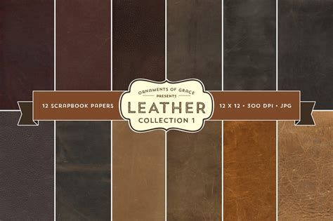 leather scrapbook papers  textures creative
