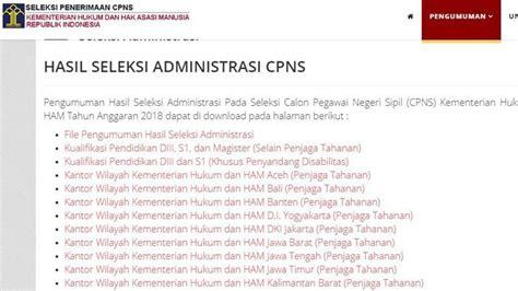 Peserta tes calon pegawai negeri sipil (cpns). Link Pengumuman Hasil Seleksi Administrasi CPNS 2018, 537 ...