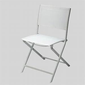 Chaise De Jardin Blanche : chaise pliante blanche en acier achat vente fauteuil ~ Dailycaller-alerts.com Idées de Décoration