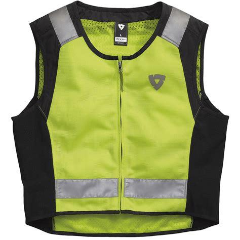 motorcycle jacket vest rev 39 it athos air motorcycle bike hi viz reflective