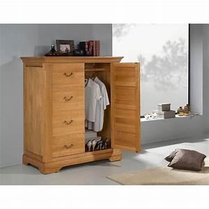 Armoire Basse Chambre : armoire basse penderie ch ne massif sologne meubles elmo ~ Melissatoandfro.com Idées de Décoration