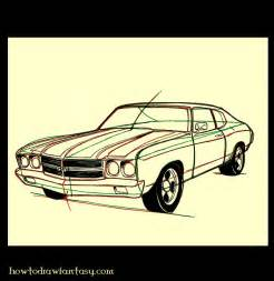 How to Draw Muscle Car Drawings