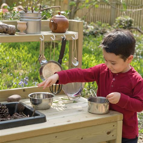 buy outdoor messy play wooden mud kitchen tts