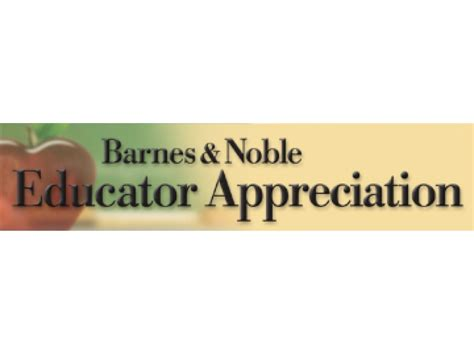 barnes and noble educator educator appreciation days april 11th 19th at barnes and