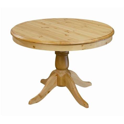 table de cuisine en pin table ronde en pin 110 cm avec rallonge 40 cm achat