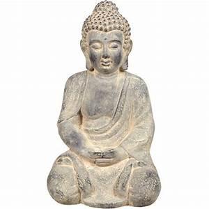 Decoration Jardin Gifi : statue bouddha assis zen my place pinterest statue bouddha decoration de jardin et bouddha ~ Teatrodelosmanantiales.com Idées de Décoration