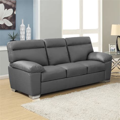 grey and black leather sofa alto italian inspired high back leather sofa collection in