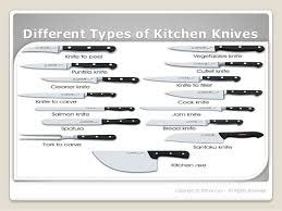 different kinds of kitchen knives types of chef knives