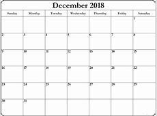 December 2018 Calendar Editable – Printable Calendar