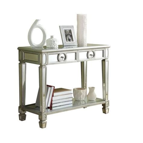 Sofa Table Walmart Canada by Monarch Specialties Brushed Silver Mirror Console Table